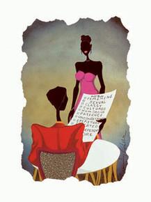 His Check List Art Print - Leroy Campbell