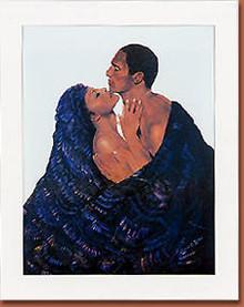 The Kiss Art Print - Samuel Byrd
