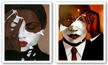Face Reality Set Art Print - Laurie Cooper