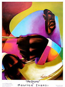 Mo Drums Art Print - Maurice Evans