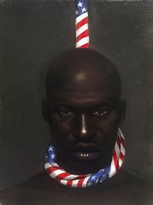 Black Man in America Art Print - Laurie Cooper