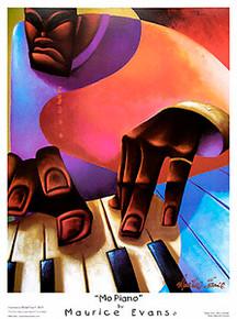 Mo Piano Art Print - Maurice Evans