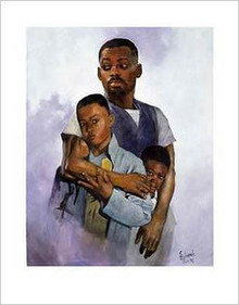 Father and Sons Art Print - Sherman Edwards
