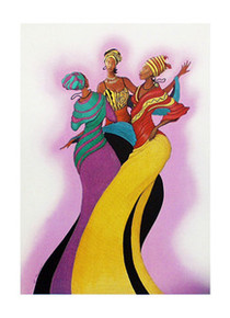 Sisters in Dance (Signed)  Art Print - Albert Fennell
