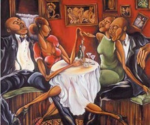 Evening Swing Art Print - Nicole Folkes