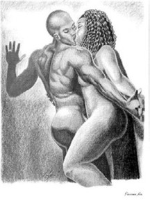 Passionate Kiss Art Print - Girolamo Gjeri