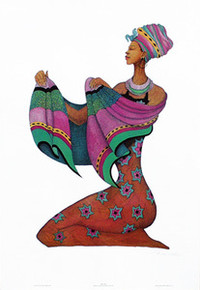 Shanna's Shawl (Signed) Art Print - Albert Fennell