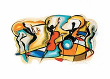 Jazz V Art Print - Alfred Gockel