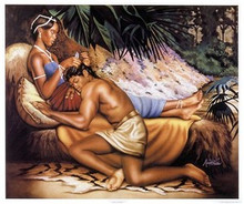 Samson and Delilah Art Print - Aaron & Alan Hicks