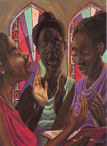 Sweet Gospel Trio Art Print - John Holyfield