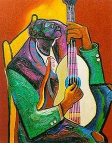 Them Weary Blues Art Print - George Hunt
