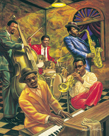 Cool Jazz (20 x 16in) Art Print - Sarah Jenkins