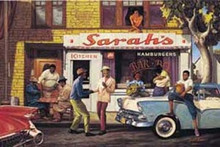 Sarah's Bar BQ (24 x 36in) Art Print - Sarah Jenkins