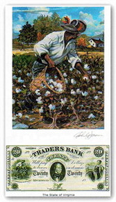 Color of Money - Slave Gathering Cotton: Virginia Art Print - John Jones