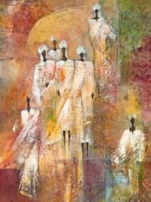 Sahara II (19 3/4 x 15 3/4 ) Art Print - Eduardo Jindani