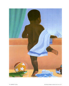 Bath Time Boy Art Print - Stanley Morgan