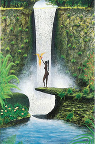 Virgin Falls Art Print - John Francis Peters