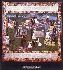 Church Picnic Quilt Art Print - Faith Ringgold