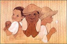 Second Cousins II Art Print - Sylvia Walker