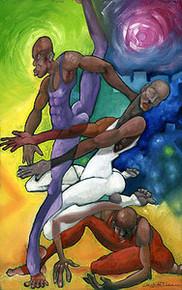 Dance Trio (Giclee) Art Print - Michael Wallace