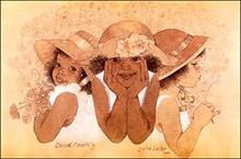 Second Cousins I Art Print - Sylvia Walker