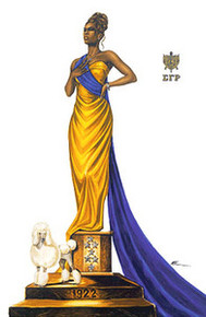 Elegance - Sigma Gamma Rho Art Print - Kevin A. Williams - WAK