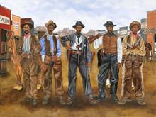 Five Gun Justice Limited Edition Art Print - Dwight Juda Ward