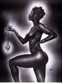 Lock and Key (Female) Art Print - Kevin A. Williams - WAK