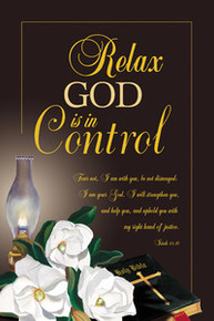 Relax, God Is In Control Art Print - Mermon Woodall