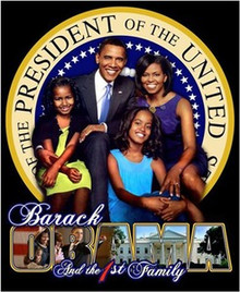 President Elect Barack Obama and the 1st Family Art Poster
