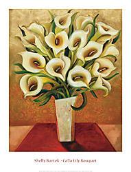 Calla Lily Bouquet Art Print - Shelly Bartek