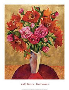 Fire Flowers Art Print - Shelly Bartek