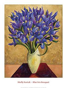 Blue Iris Bouquet Art Print - Shelly Bartek