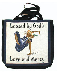 Loosed by God's Love and Mercy 16in Tote Bag