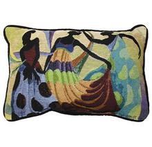 Dancer's In Black Skin Tapestry Pillow