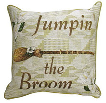 Jumpin The Broom Tapestry Pillow