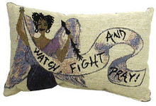 Warrior Angel Tapestry Pillow