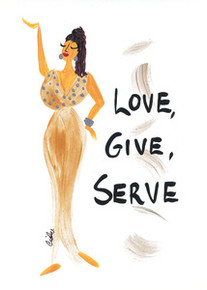 Love, Give, Serve Happiness Magnet - Cidne Wallace
