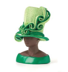 Extraordinary - Green Sinamay Figurine - Harriet Rosebud