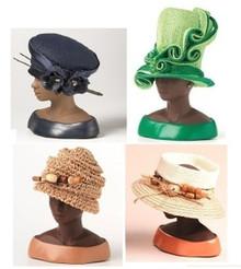 *Set of (4) Harriet Rosebud Hats - #3114, 3124, 3127, 3132