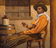 Texas Chillin  Limited Edition Art - Thomas Blackshear