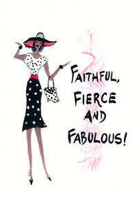 Faithful Fierce and Fabulous Magnet - Cidne Wallace