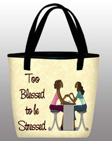 Too Blessed - Inspirational Tote Bag