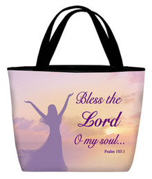 Bless the Lord (woman) - Inspirational Tote Bag