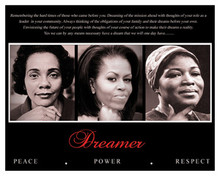 Dreamer (Trio): Peace, Power, Respect 8 x 10 Art Print