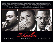 Thinker (Trio): Peace, Power, Respect 8 x 10 Art Print