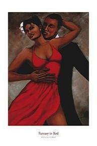 Fantasy in Red (24 x 36) Art Print - Monica Stewart