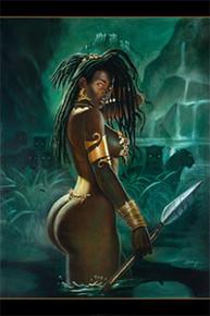 Warrior Art Print (36 x 24in) - Sterling Brown