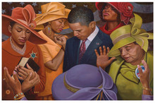 Yes We Can - Citizens United - Obama Art Print by Henry Lee Battle