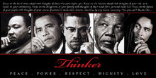 Thinker (Quintet): Peace, Power, Respect, Dignity, Love Art Print